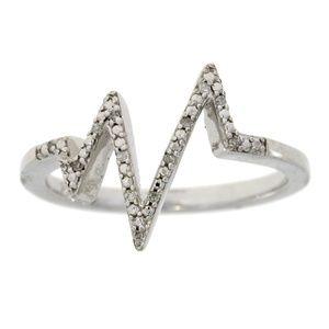 Jewelry - Genuine .05ct Diamond Ring Sterling Silver